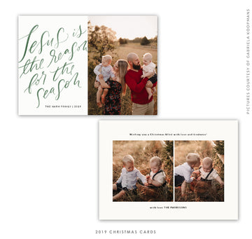 Christmas 5x7 Photo Card | The reason