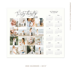 8x10 | 2020 calendar template | Memories board