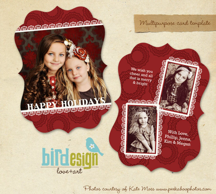 Holiday Ornate Photocard | Sweet times