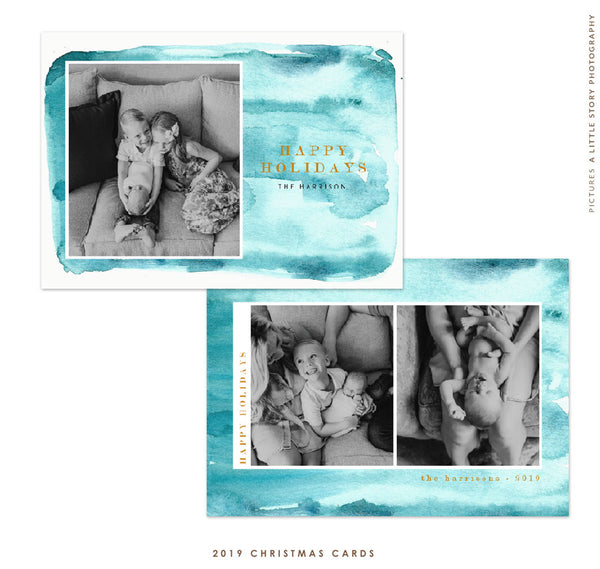 2019 Christmas 5x7 Photo Card | Christmas Sky