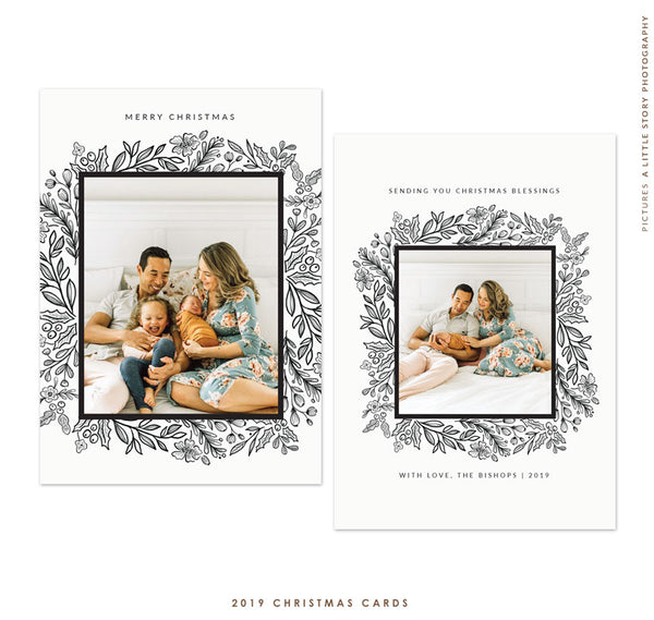 2019 Christmas 5x7 Photo Card | Holiday Elegance