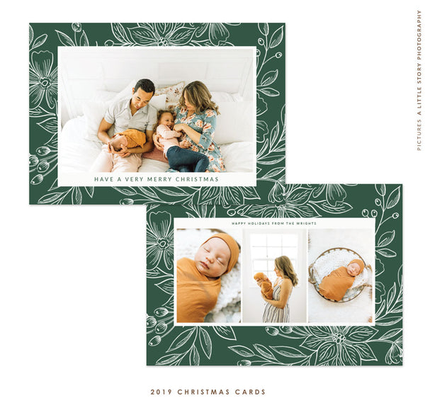 2019 Christmas 5x7 Photo Card | Christmas Fields