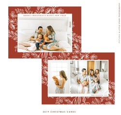 2019 Christmas 5x7 Photo Card | Classic in Red