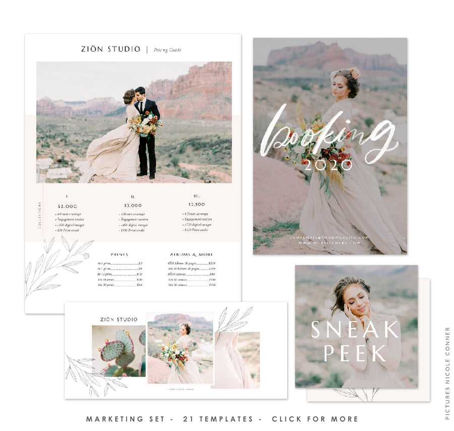 Photography Marketing Set | Zion