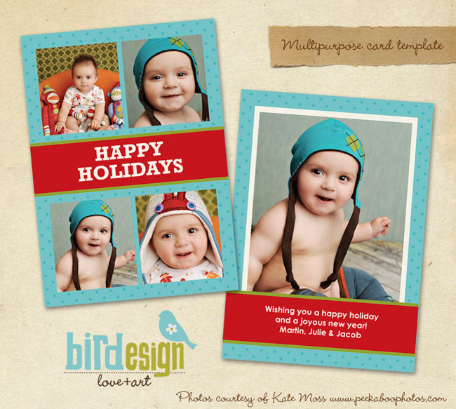 Holiday Photocard Template | Fun holidays