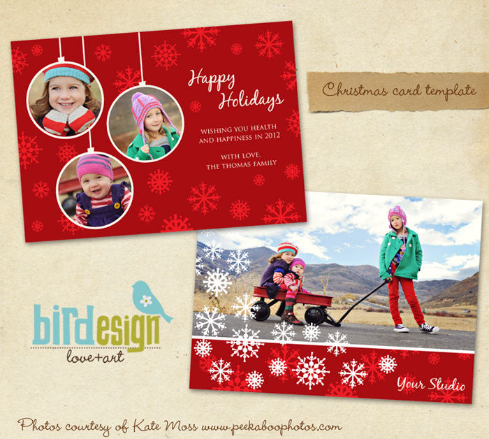 Holiday Photocard Template | Love winter