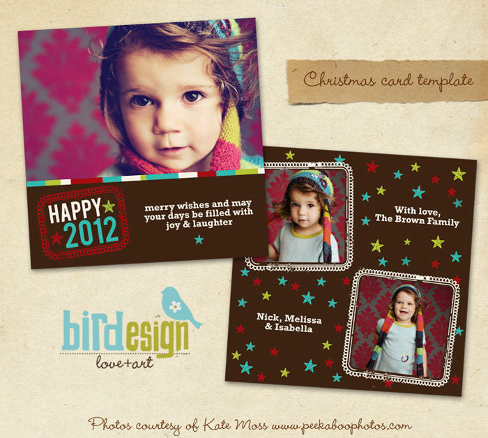 Holiday Photocard Template | Sweet wishes