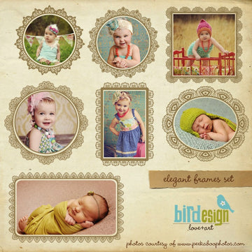 Chic borders | Digital frames set