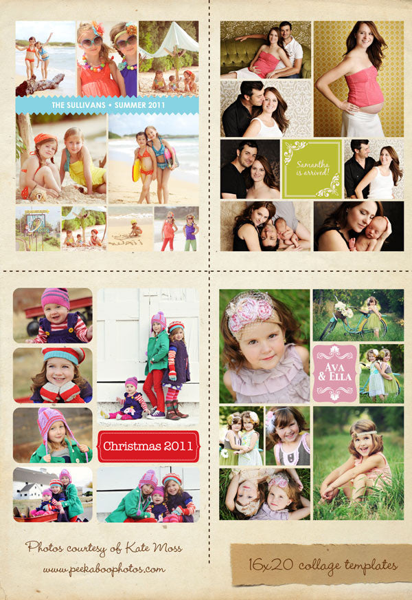 16x20 collages & blog boards bundle | Collection I