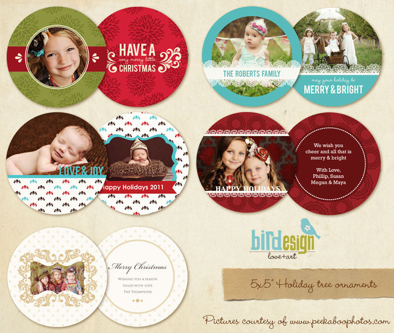 Circle Cards Bundle | Tree ornaments