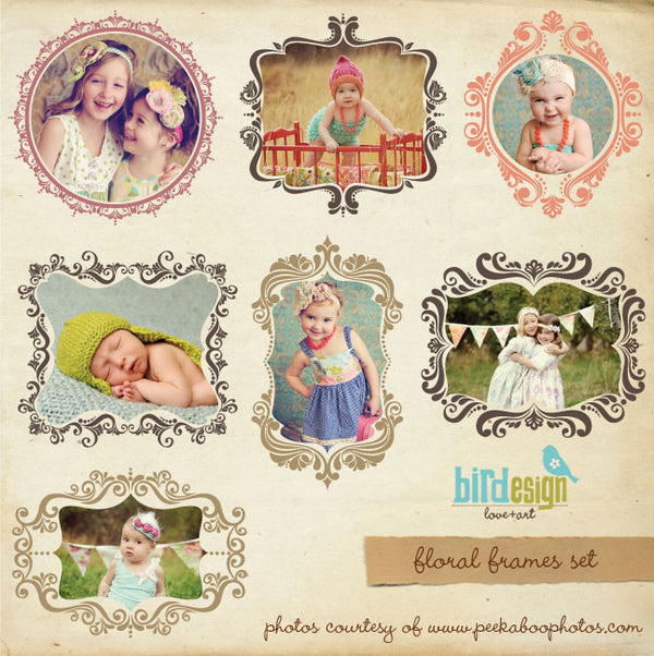 Floral frames | Digital frames set