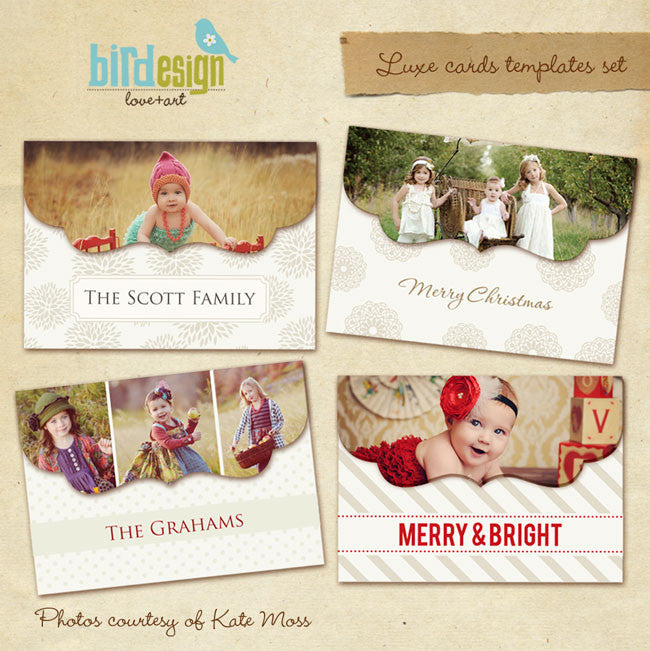 Holiday Ornate Photocards | Jolly Laughter