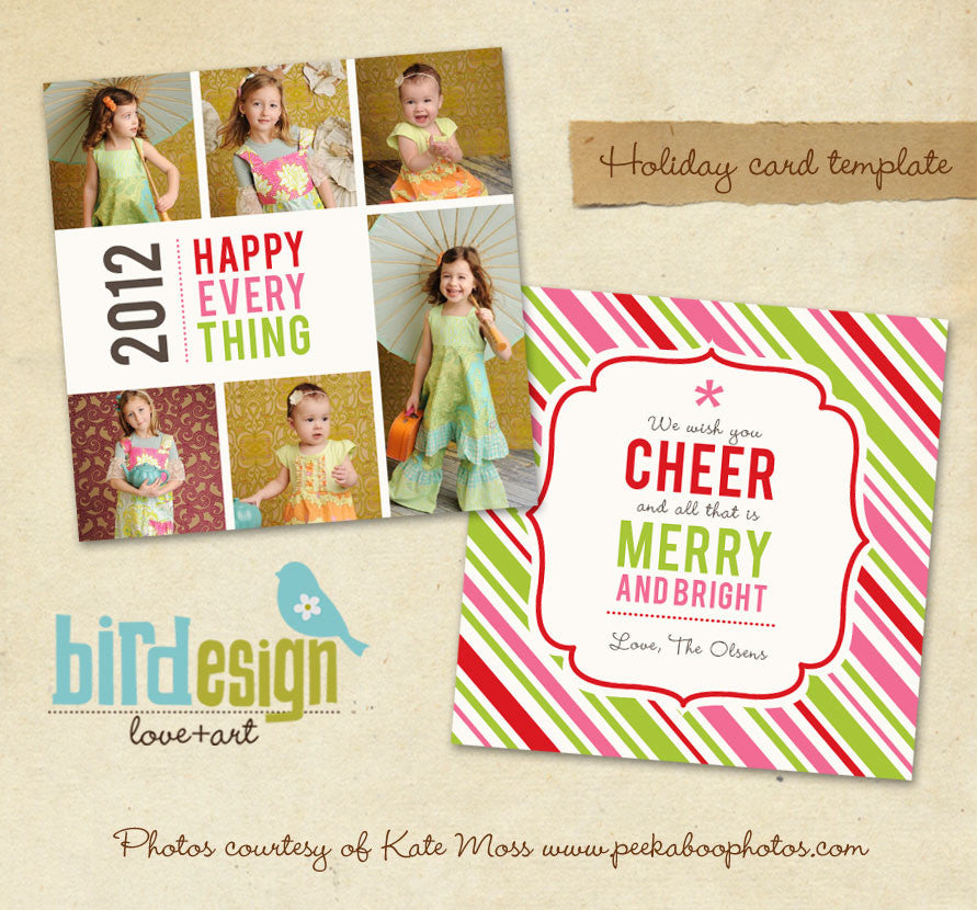 Holiday Photocard Template | Happy Day