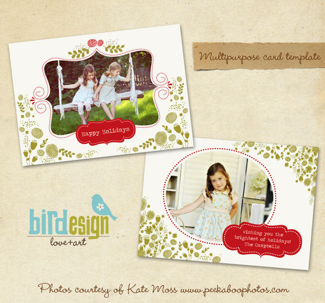 Holiday Photocard | Green Garden