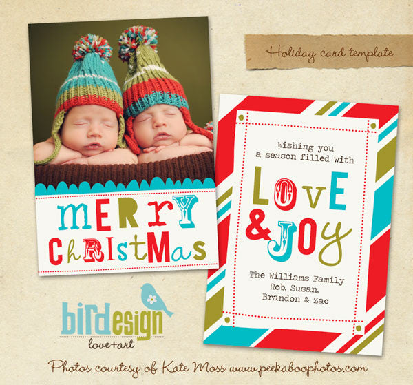 Holiday Photocard Template | Whimsy Christmas
