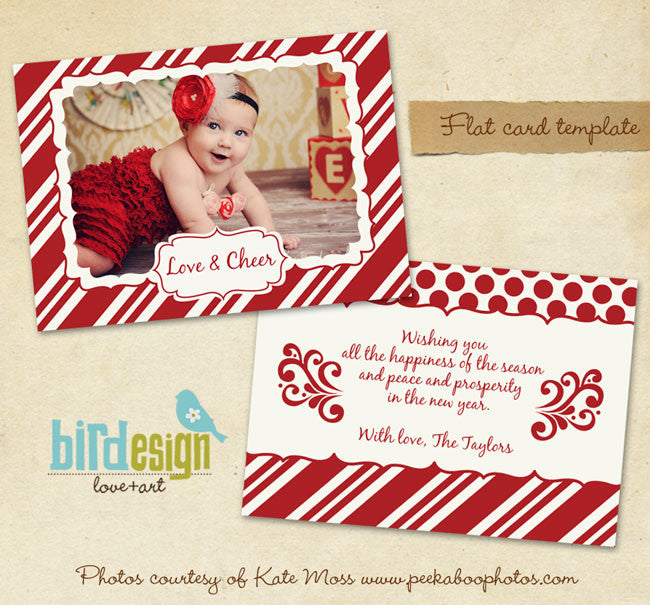Holiday Photocard Template | Be happy