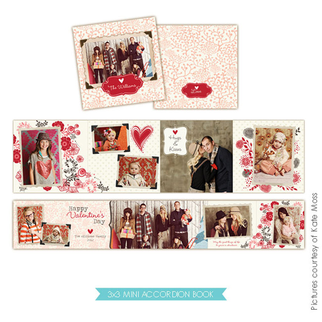 Valentine accordion mini 3x3 | Be lovely