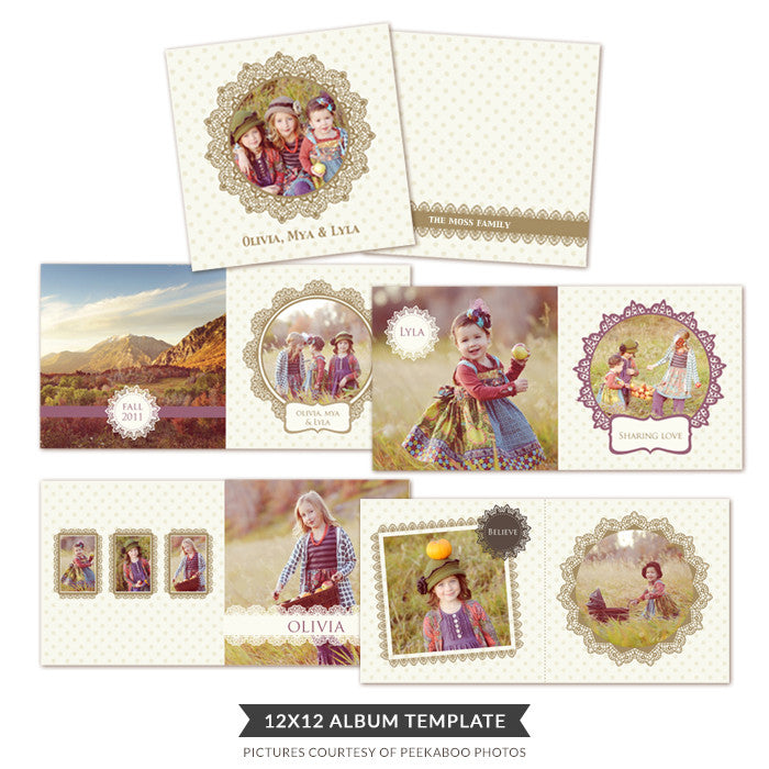 Happy Friends album |  12x12 Album template