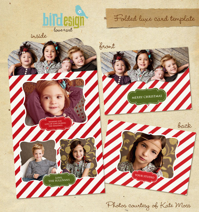 Holiday Ornate Photocard | Vintage Classic