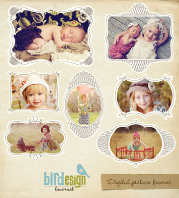 Royal portraits | Digital frames set
