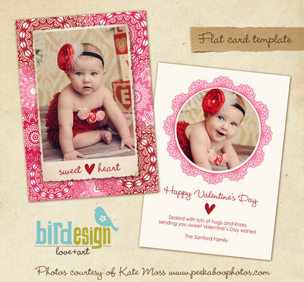 Valentine Photocard Template | Sweetheart