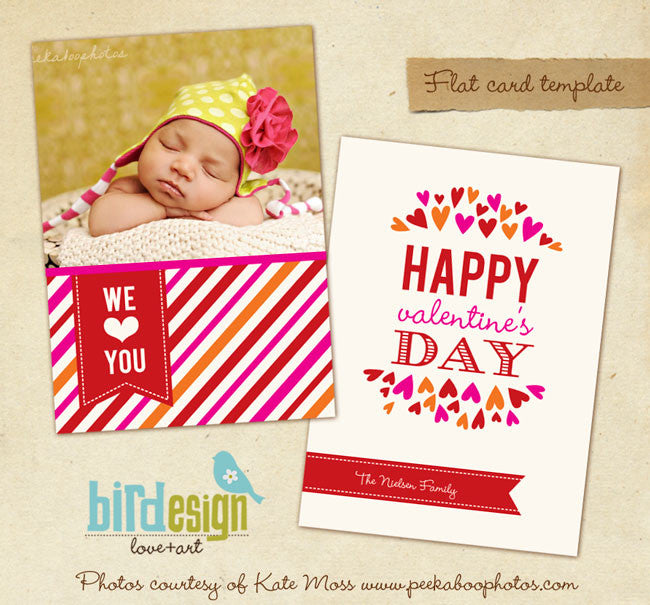 Valentine Photocard Template | We love