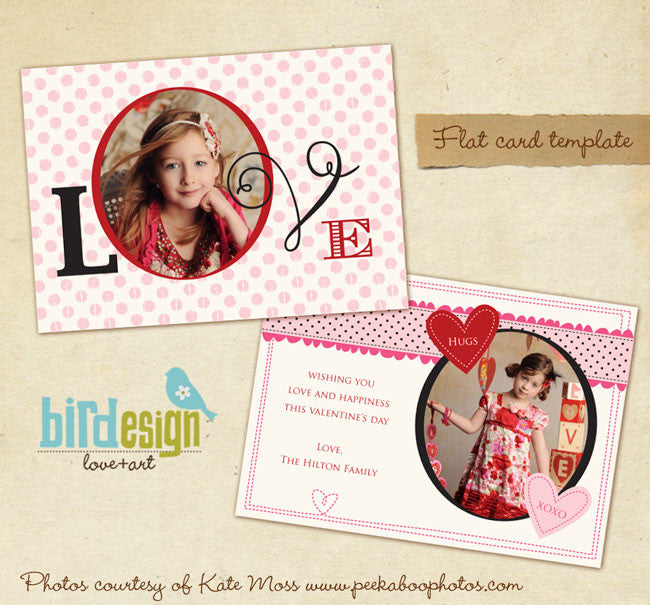 Valentine Photocard Template | Romantic dots