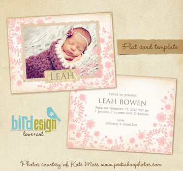 Birth Announcement | Flower Nest