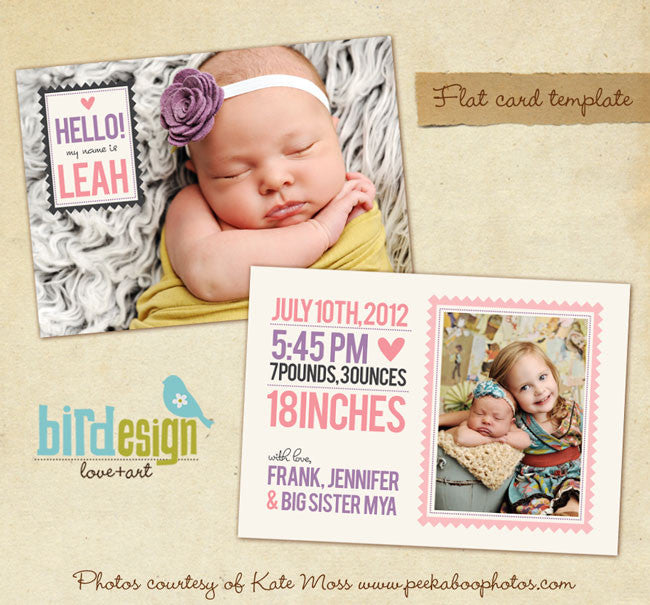 Birth Announcement | Big sister