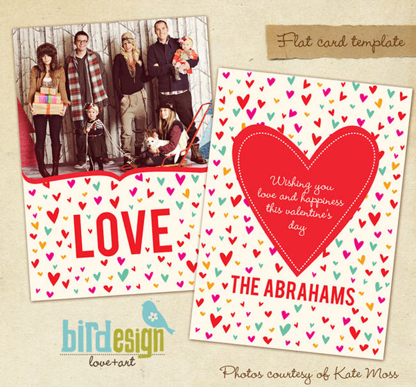 Valentine Photocard Template | Jolly Love