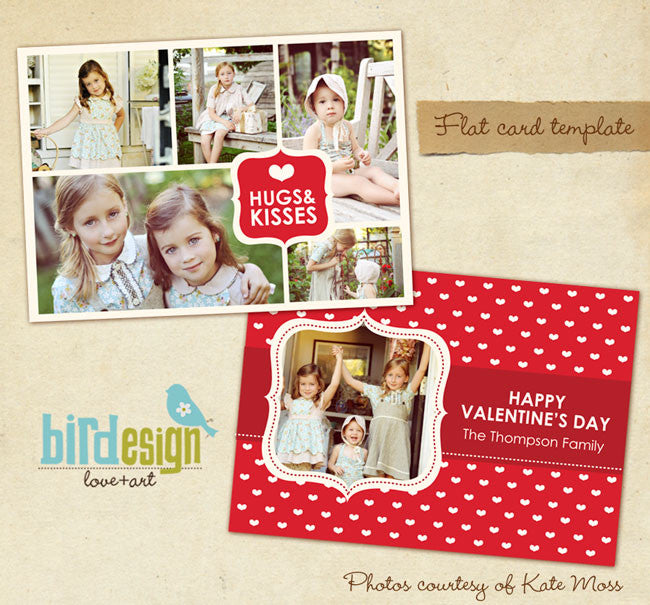 Valentine Photocard Template | Sweet Kisses