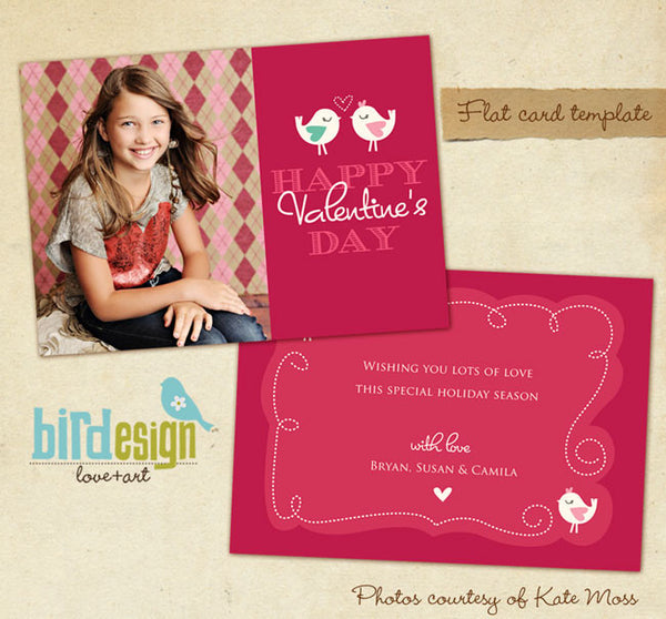 Valentine Photocard Template | Little lovers