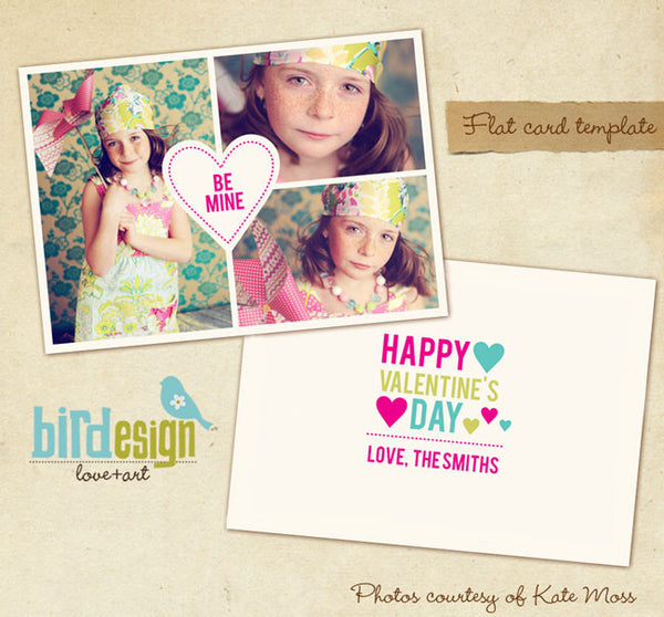 Valentine Photocard Template | Hearts