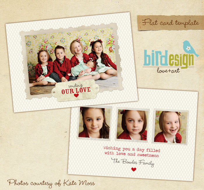 valentine photo card template, templates for photographers