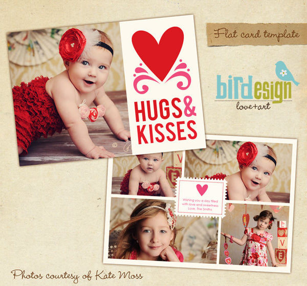 Valentine Photocard Template | Pink xoxo