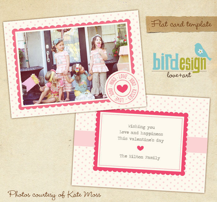 Valentine Photocard Template | Funny Friends