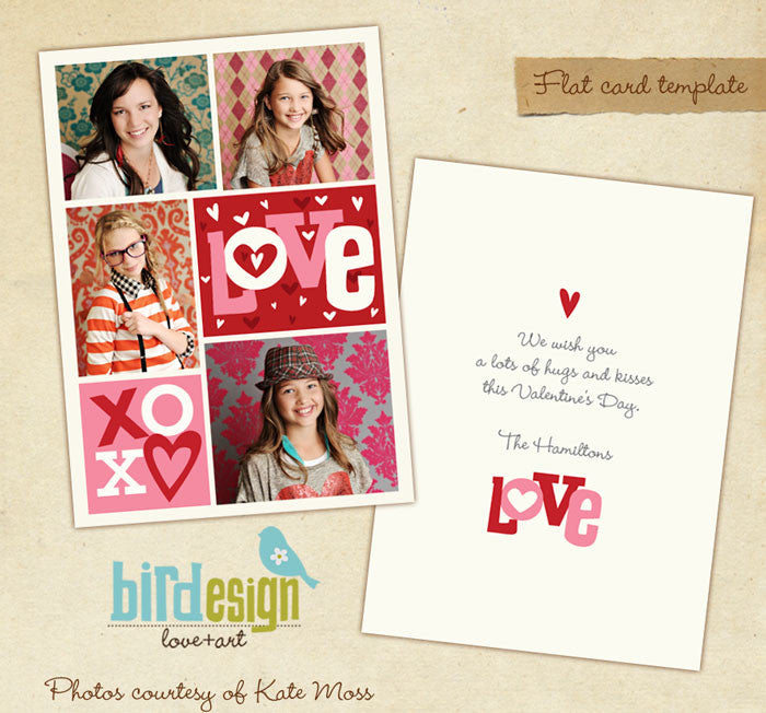 Valentine Photocard Template | Crazy love