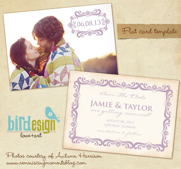 Save the date digital template for photographers