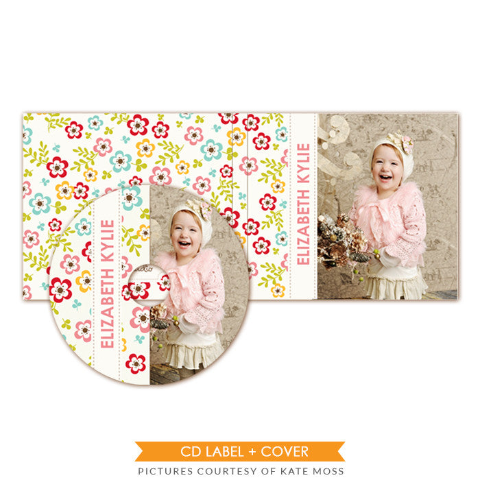 CD label and case set | Happy garden