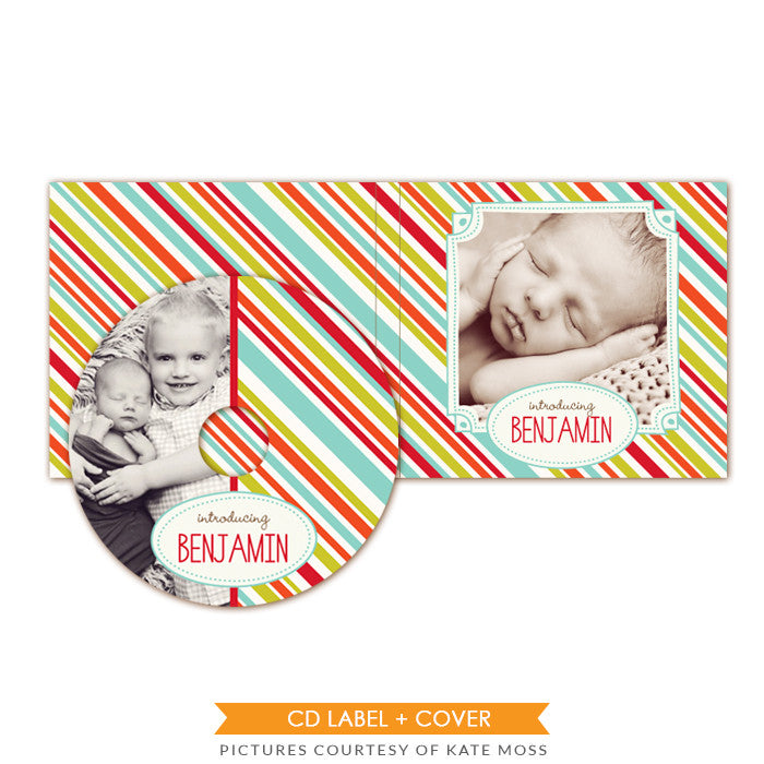CD label and case set | Funny stripes