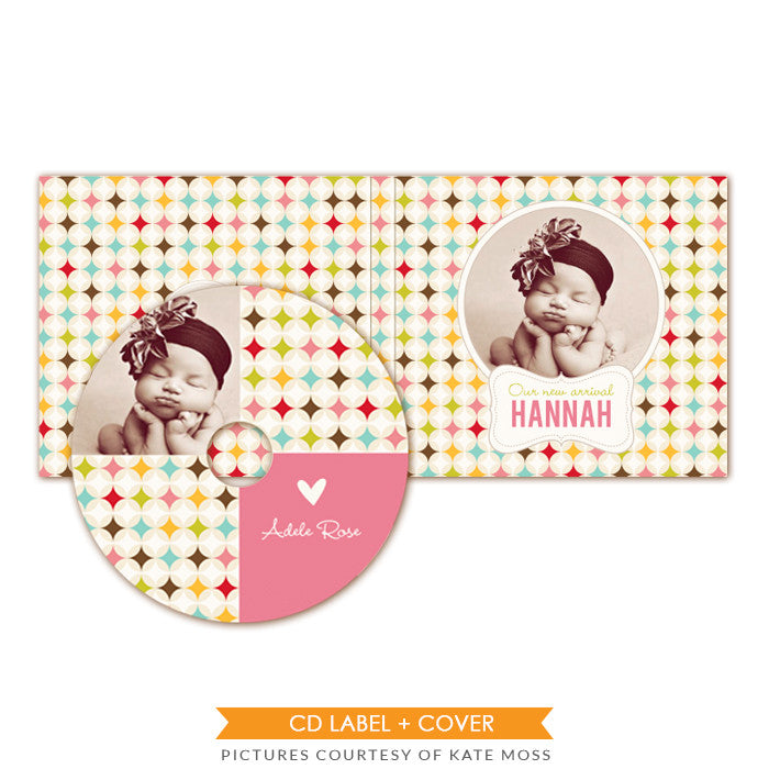 CD label and case set | Retro welcome