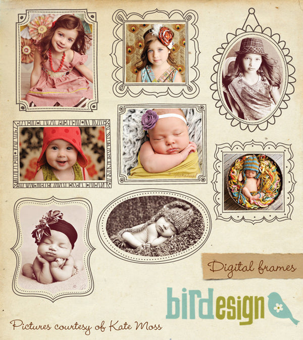 PSD digital frames for photographers