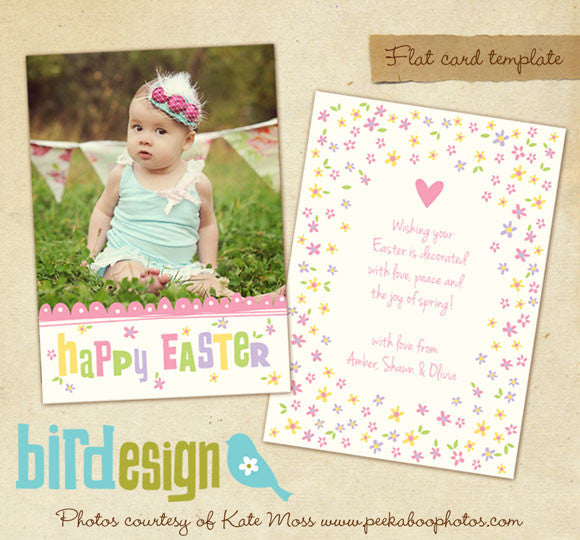 Easter photo card | Easter daisies
