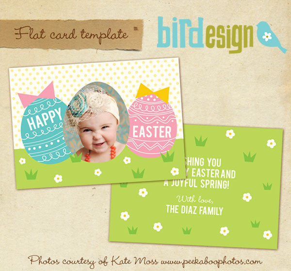 Easter photo card | Happy chicks