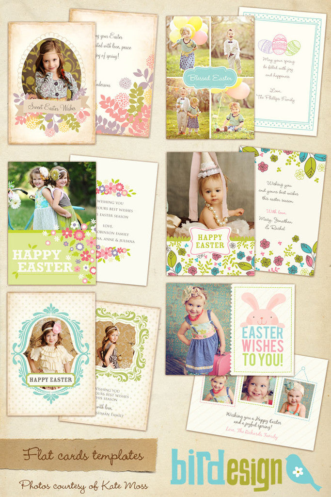 Easter photo cards bundle | Vintage Easter