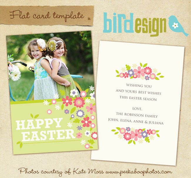 Easter photo card | Spring wishes