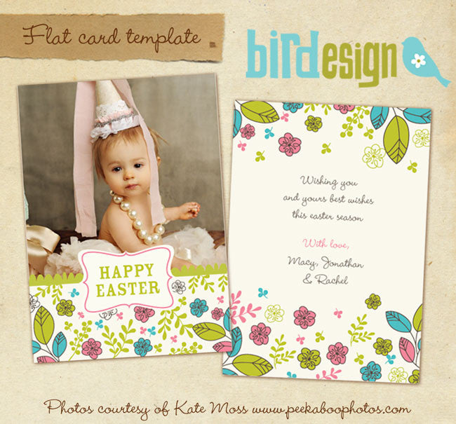 Easter photo card | Easter princess