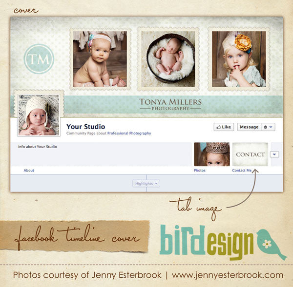 Facebook timeline cover | Photo stamps