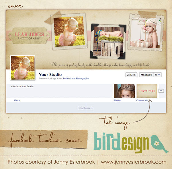 Facebook timeline cover, template for photographers