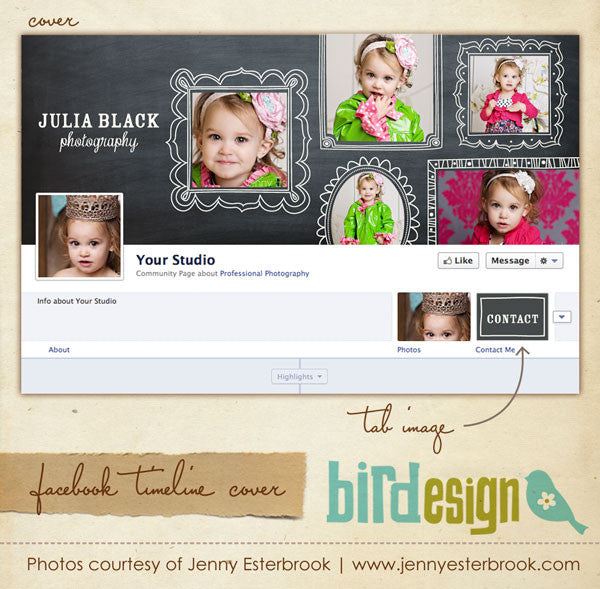Facebook timeline cover | Little girl